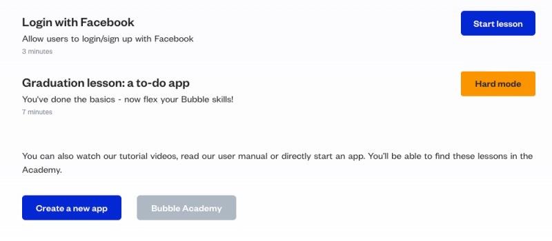 すぐに始めたい場合は一番下の「Create a new app」