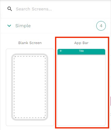 App Barを追加