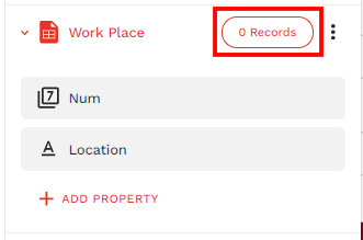 0 Recordsをクリック