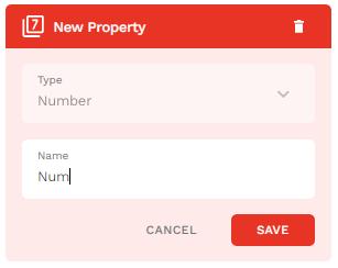 Numberの名前をNumに変更