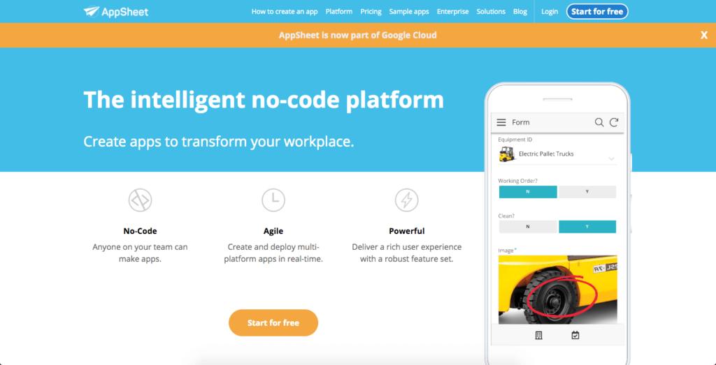 AppSheet公式サイト