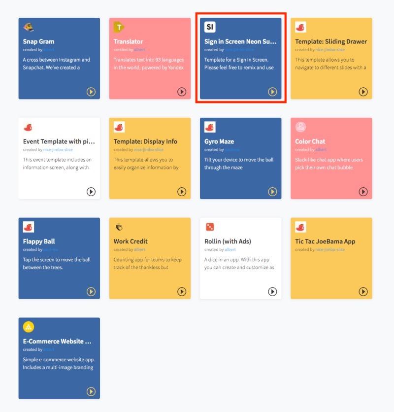 開発されたアプリ